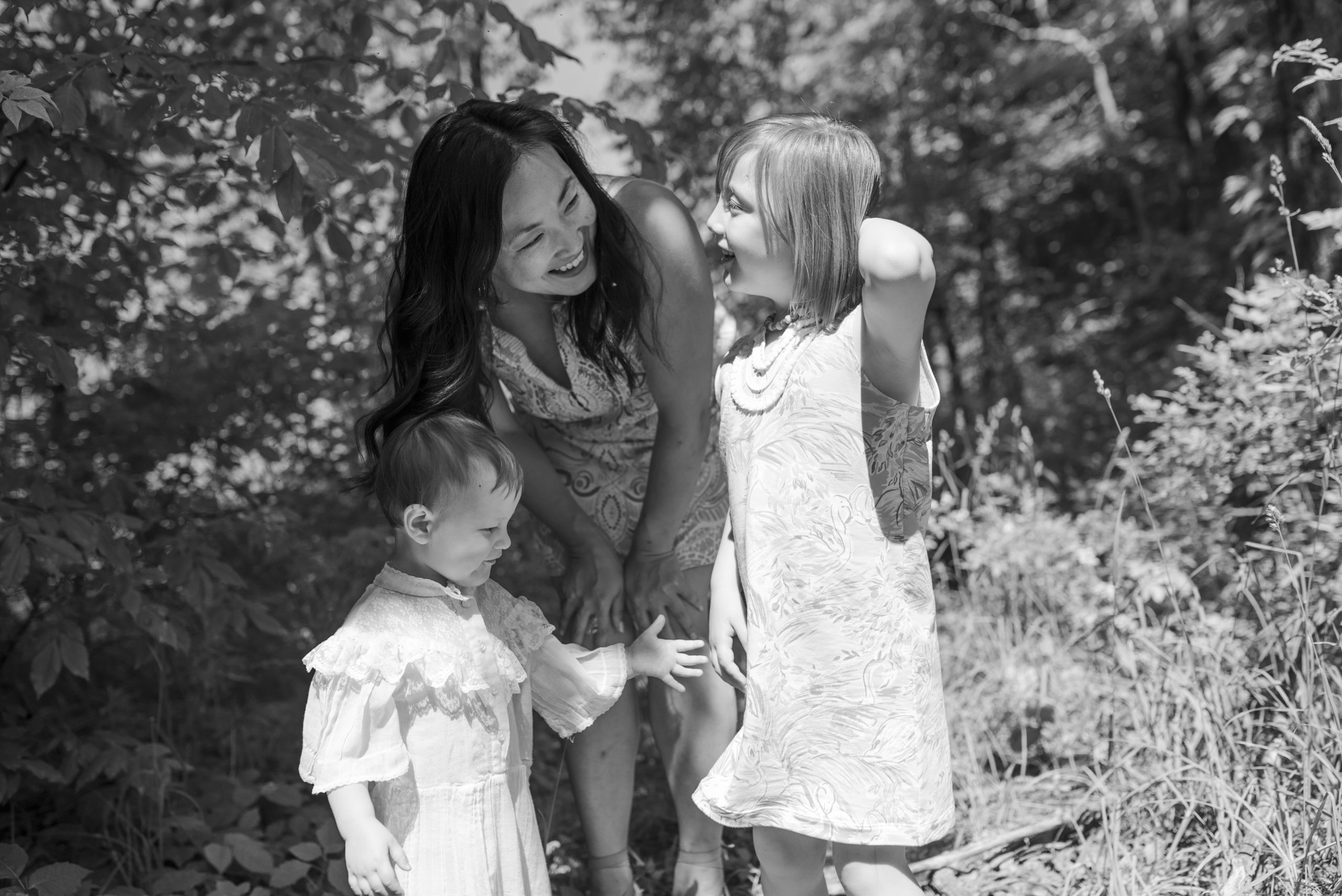mom and girls